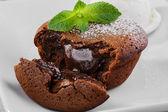 çikolatalı fondan — Stok fotoğraf