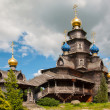 Wooden Russian church - Stock Photo