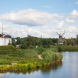 Mill in summer day — Stockfoto