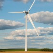 Wind turbines in the fields — Stock Photo