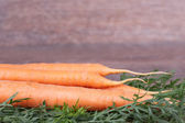 Carrots with tops — Stock Photo