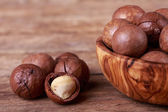 Macadamia nuts — Stock Photo