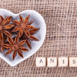 Stock Photo: Aniseed in  cup