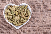 Cardamom in  cup — Stock Photo