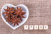 Aniseed in  cup — Stock Photo