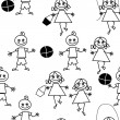 Cartoon repetition — Vector de stock #16850659