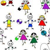 Niños de dibujos animados — Vector de stock