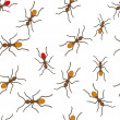 Seamless ant pattern — Stock Vector