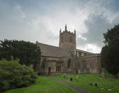 Landscape view of an English church — Stock Photo