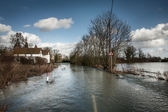 Road flooded — Stock Photo