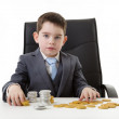 Kid dressed up as a business person — Stock Photo #42336947