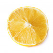 Stock Photo: Slice of fresh lemon.
