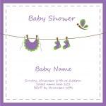Baby Girl Invitation — Stock Vector