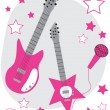 Rockstar Guitars — Stock Vector