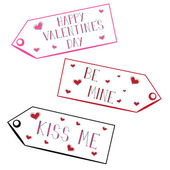 Valentines Tags — Vetorial Stock