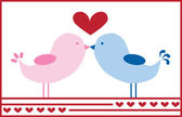älskar fåglar — Stockvektor