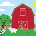 Cute Farm — Stock Vector