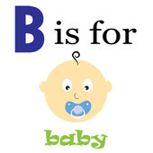 B is for Baby — Stock Vector
