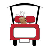 Golf Cart — Stock Vector