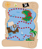 Pirate Treasure Map — Stock Vector
