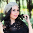 Stock Photo: Girl in fashionable winter cap