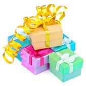 цвет подарочные коробки — Стоковое фото