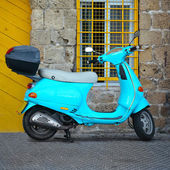 Blue scooter — Stock Photo