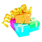 色のギフト ボックス — ストック写真