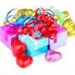 Photo: Color gift boxes