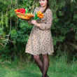 Woman with flowers — Stock Photo #38919349