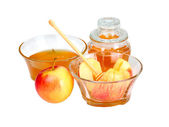 Apple and honey  — Stock Photo