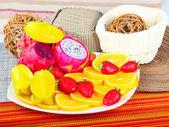 Exotic Fruit Dish  — Stock Photo
