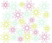красочных снежинки — Cтоковый вектор