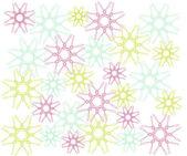 Fiocchi di neve colorati — Vettoriale Stock
