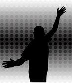 Tanzen mann — Stockvektor