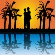 Romantic couple — Vector de stock #16988181