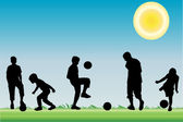 Jogando com a bola — Vetor de Stock