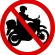 Stock Vector: No motorcycle