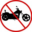 Stock Vector: No Motorcycle Sign