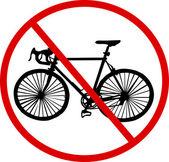 No bicycle — Stock Vector