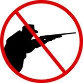 Stoppa jakt — Stockvektor