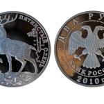 Russian silver ruble — Stock Photo