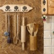 Постер, плакат: Old wooden kitchen utensils