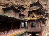 Antique hanging temples located near the Datong — Stock Photo