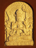 Relief - the stone Shiva - frequent decoration of temples — Stock Photo
