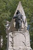 Monumento cerca del palacio de madrid — Foto de Stock