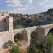 View from San Martin Bridge in Toledo — Stock Photo