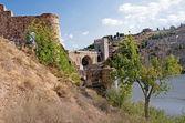 San Martin Bridge in Toledo — Stock Photo