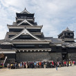 Japanese castle in Kumamoto — Stock Photo