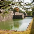 Bridge into castle in Kyoto - Stock Photo